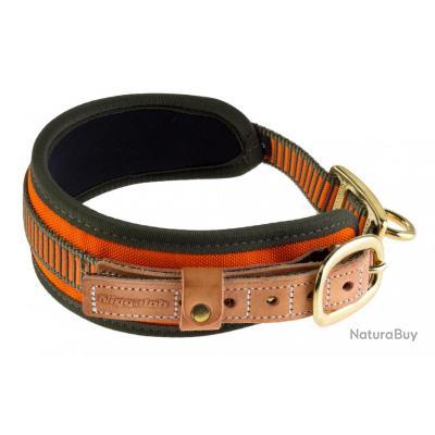 ( Taille M - Tour de cour 48/60 cm.)Collier chien de sang orange fluo - Niggeloh