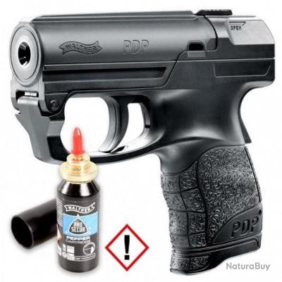 BLACK FRIDAY Sur Le Pistolet De Défense Lacrymogène Walther PDP + 1 Cartouche de Gaz