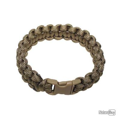 bracelet. Paracord coyote tan. largeur 1.9 cm
