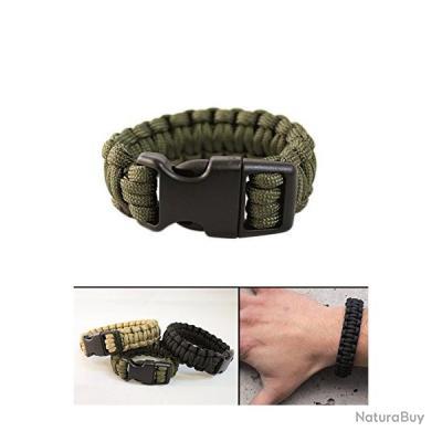 Bracelet de survie paracorde 15 mm OD Green