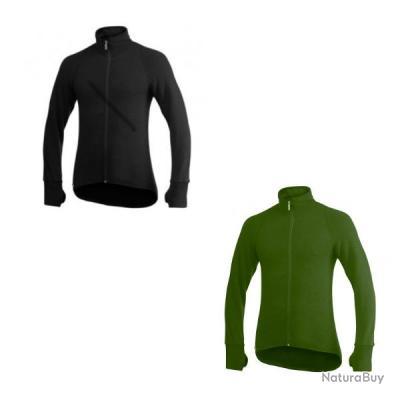 Veste ullfrotté grand froid 600 gr woolpower Noir