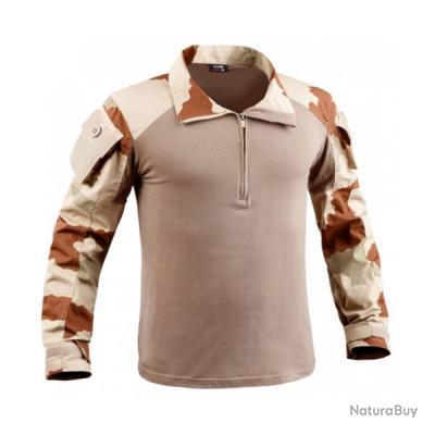 Chemise de combat militaire UBAS cam désert TOE