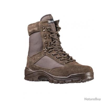 Chaussures tactiques mil tec marron ref 12822108