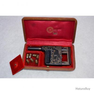 PISTOLET LUXE GAULOIS N° 6 Cal 8mm Manufacture Saint Etienne France XIXè France XIX eme Neuf  Catego