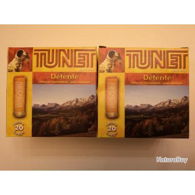 Lot de 50 cartouches Tunet Détente cal. 20/67 plomb N°8 SUPER PRIX !!!