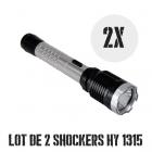 Lot de 2 shockers lampes pro 10 000 000 de volts 230 lumens HY1315