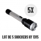 Lot de 5 shockers lampes pro 10 000 000 de volts 230 lumens HY1315