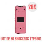 lot de 20 shockers  type 801 rose 5 Millions de volts