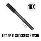 Lot de 10 shockers matraques 8 000 000 de volts HY1138 led 160 lumens