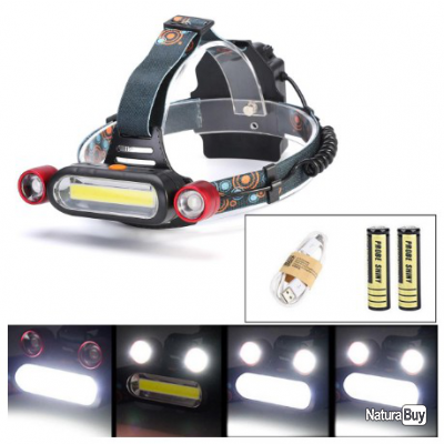 Lampe Frontale Led Rechargeable Usb 1300 Lumens Lampes Frontales