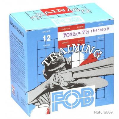 """( FOB TRAINING Cal.12-70  N°7.5)Cartouches Fob de sport Training - Cal.12/70"""