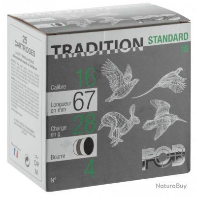 Standard 28 Cal. 16 67, culot de 8, 28 gr, Plomb Cartouches Fob standard 28 chasse bourre