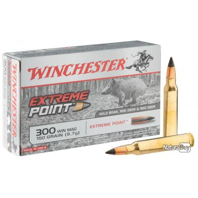 """( Balle Power Point)Munitions Winchester cal . 300 Win Mag - grande chasse"""