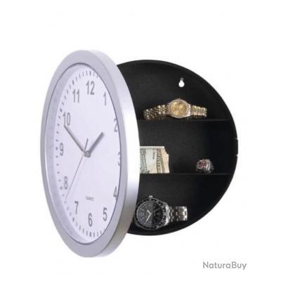 Horloge coffre fort secret cachette argent bijoux