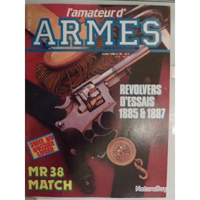 Revue L'Amateur des arme N° 56 - les révolvers d'essai 1885 - 1887