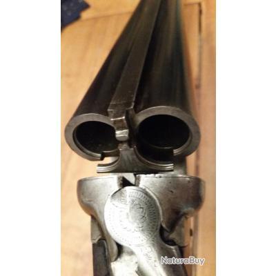 fusil juxtaposé de chasse Fabrique Nationale de guerre . Herstal Belgique