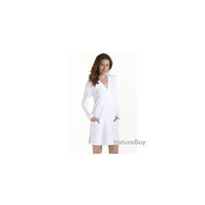 Cardigan à capuche Poolside femme UPF 50+. blanc