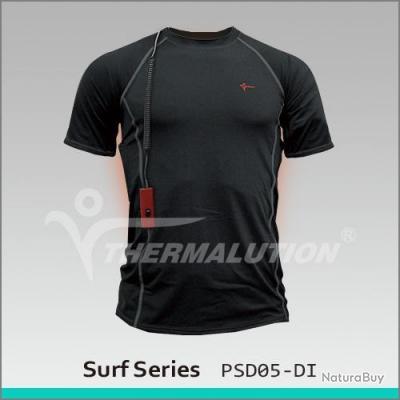 Tee-shirt chauffant pour le surf jusqu'à 15 mètres XXL Noir
