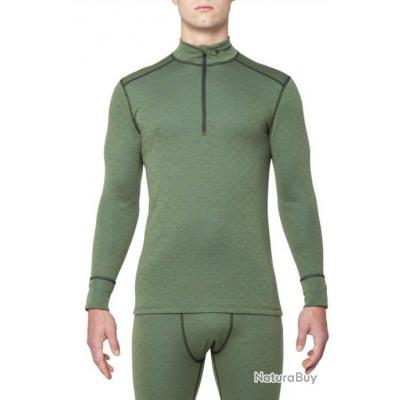 la plus récente technologie offres exclusives bonne réputation T Shirt Merinos XTREME manches longues col zippé homme Thermowave Kaki