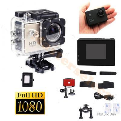 MINI CAMERA DE SPORT AVEC BOITIER ETANCHE HD 1080 HD1080 EMBARQUEE MICRO SD ETANCHE 30m - Pas Cher -