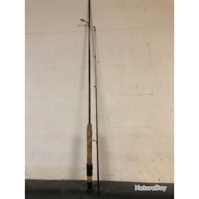 1 canne  1.50 m ,  0.5 / 3  gr , 2 brins ,carbone peche ancien collection occasion garbolino truite