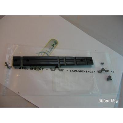 Rail weaver EAW en acier pour Remington 7400 avec fentes pour  montage weaver et Picatinny