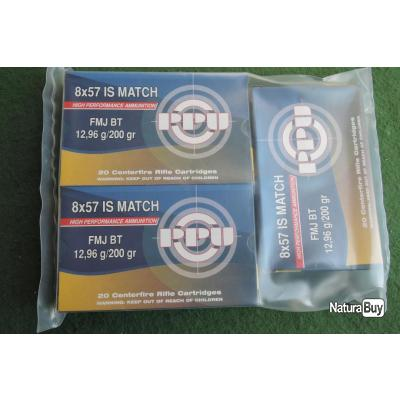 lot de 60 cartouches 8x57is FMJ BT 200gr Match PARTIZAN