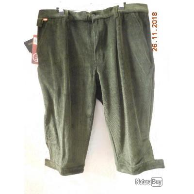 LMA  knickers velour vert bouteille,extensible,