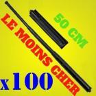 Lot 100 Matraque telescopique 50 cm noire avec etui inclus