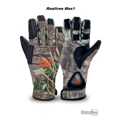 """First Lite. Gants """"shooting glove"""" automne camo realtreeMax1 et hivers Taille M"""
