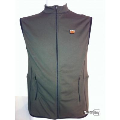 Gilet chauffant Régular sans manche. 30Seven® Vert Camouflage