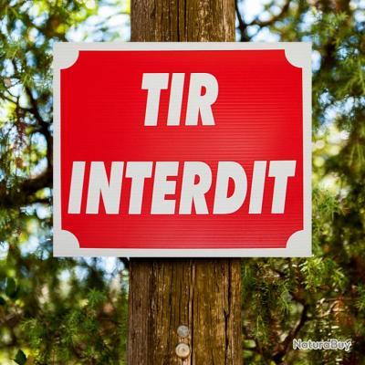"""Lot de 10 panneaux """"TIR INTERDIT"""" en Akilux 30 x 25 cm"""