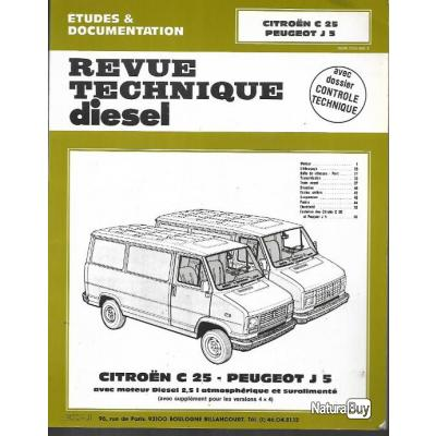 revue technique citroen c25 et peugeot j5 diesel j 5 c 25 avec moteur 2 5l atmosph rique et. Black Bedroom Furniture Sets. Home Design Ideas