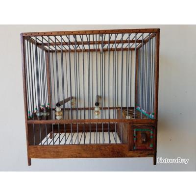cage de chant en bois et fer