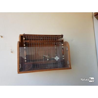 cage de chant en bois et fer 2