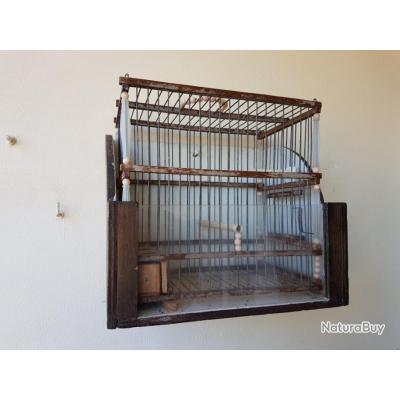 cage de chant en bois et fer 3