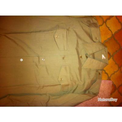 chemise kaki polyester /coton