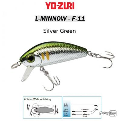 L-MINNOW F-11 YO-ZURI 33 mm / 3.5 g Silver Green