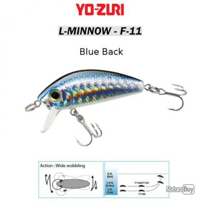 L-MINNOW F-11 YO-ZURI 44 mm / 5 g Blue Back