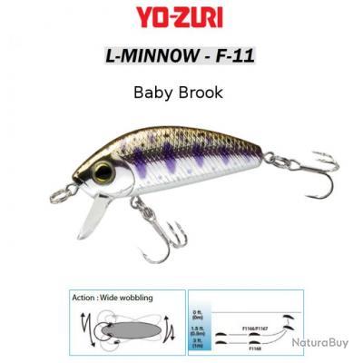 L-MINNOW F-11 YO-ZURI 44 mm / 5 g Baby Brook