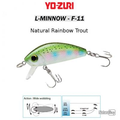 L-MINNOW F-11 YO-ZURI Natural Rainbow Trout 66 mm / 7 g