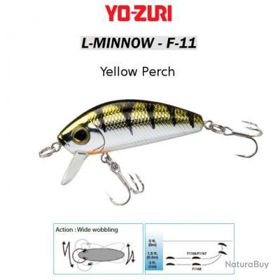 L-MINNOW F-11 YO-ZURI 33 mm / 3.5 g Yellow Perch