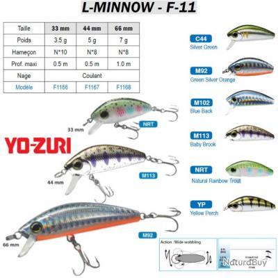 L-MINNOW F-11 YO-ZURI 33 mm / 5.5 g Baby Brook