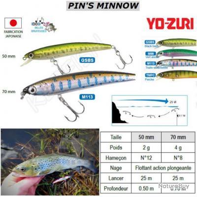 PIN'S MINNOW YO-ZURI Black Bass 50 mm / 2 g