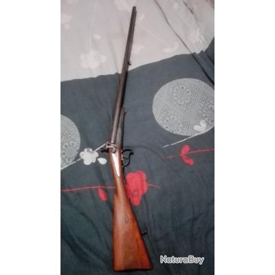 Vieux fusil à broche de calibre 16/65