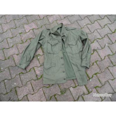 veste combat OD 43 1944 US army ww2 GI américain Alsace Ardennes Belgique fied jacket mod 43 capuche