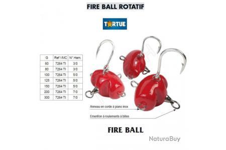 TORTUE TETE PLOMBEE FIRE BALL ART PHOSPHO