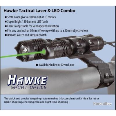 Kit Laser vert + Lampe Led HAWKE