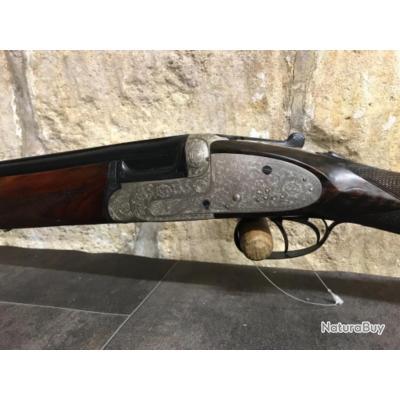 Fusil superposé à platine artisanal espagnol calibre 12 en parfait état