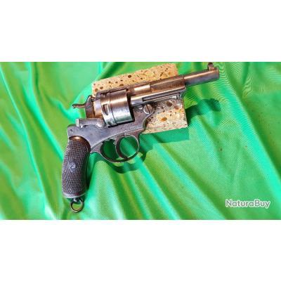 Beau revolver 1873, S1881, monomatricule, canon miroir, avec étui et cartouches collection et tir.
